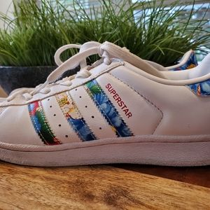 Adidas | Superstar Sneakers With Tropical Flowers